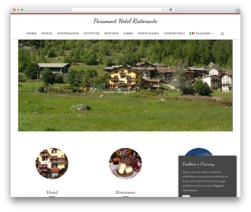 Customizr WordPress hotel theme - paramonthotelristorante.com