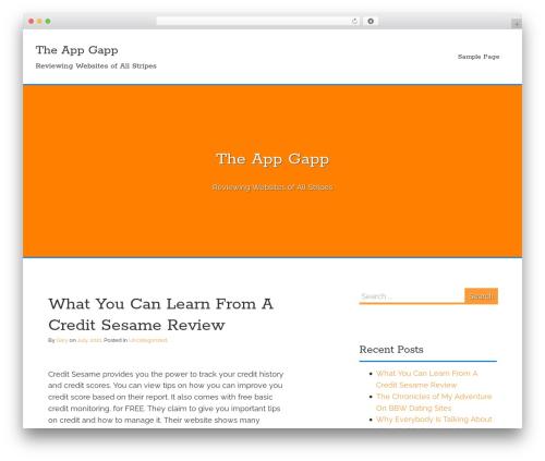 Flex-Lite template WordPress free - theappgap.com