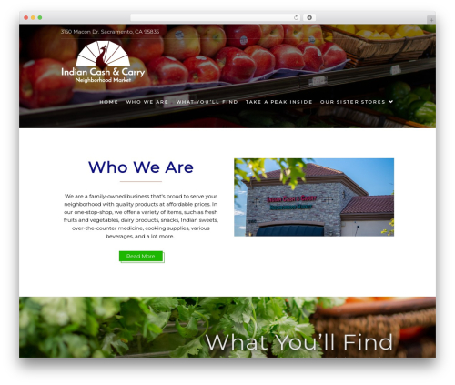 Food Express best free WordPress theme - indiancashandcarry.com