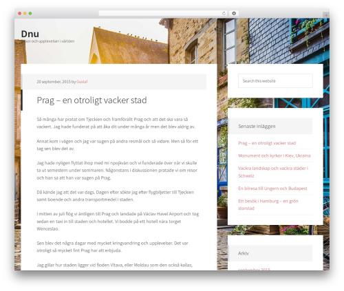 Generate Pro WordPress page template - dnu.nu