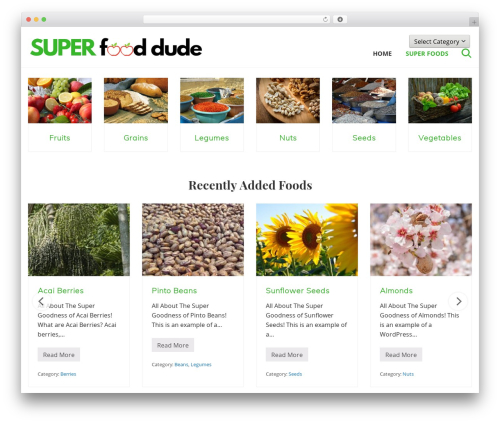 Genesis food WordPress theme - superfooddude.com
