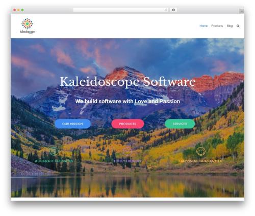 neve WordPress theme design - kaleidoscope-software.com