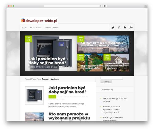 Nexus WordPress theme - deweloper-orida.pl