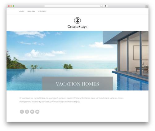 Quinn WordPress theme - createstays.com