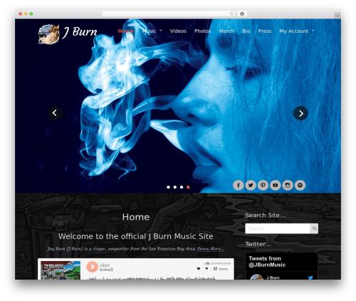Rock Star Pro WordPress theme - jburnmusic.com