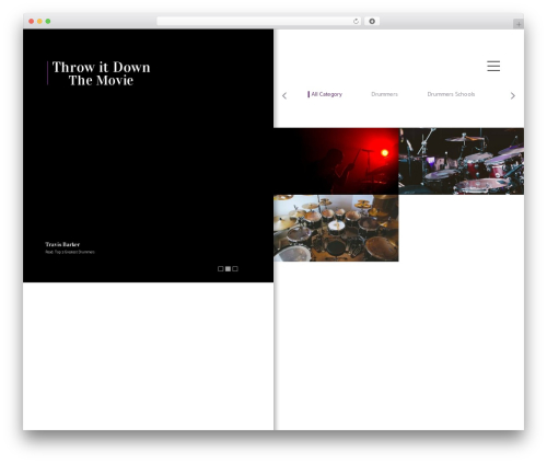 Shutter WordPress video template - throwitdownthemovie.com