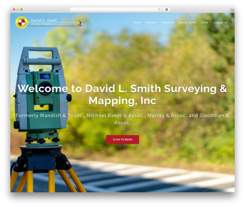 Sydney best free WordPress theme - dlsmithsurveyors.com