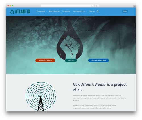 Theme WordPress Klein - atlantisradio.org