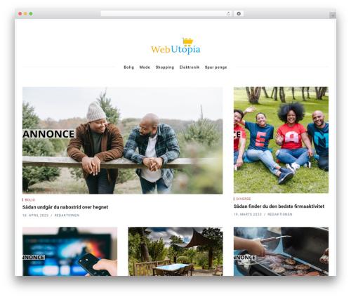 Theme WordPress Nubia - webutopia.dk