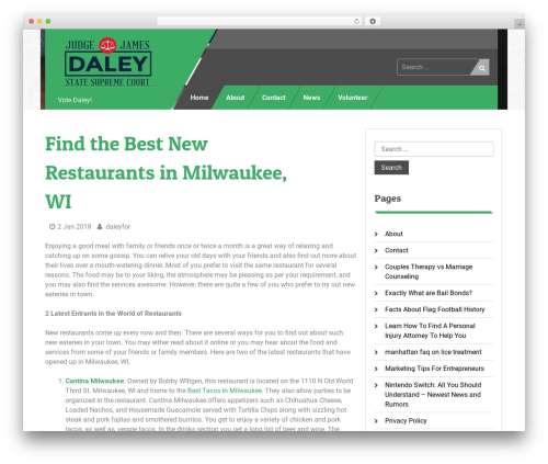 Uniq theme WordPress - daleyforwisconsin.net