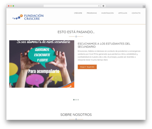 WordPress template HB Charity - crescere.org.ar