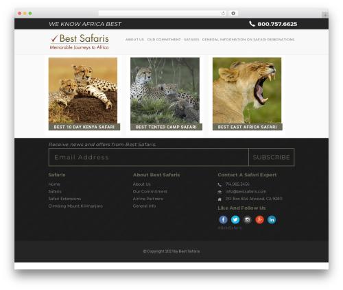 WordPress theme Entrada - bestsafaris.com