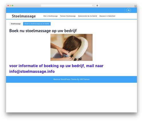 WordPress theme VW Medical Care - stoelmassage.info