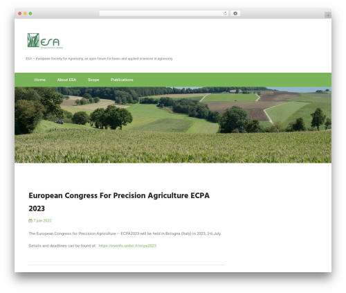 WordPress website template Newfangled - european-agronomy.org
