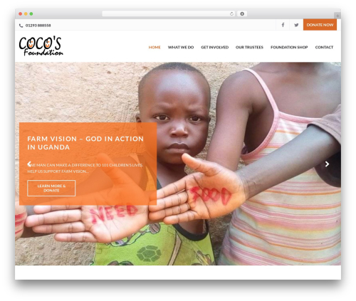 WP theme Charity WPL - cocosfoundation.co.uk