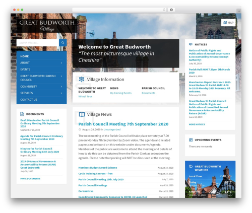 Best WordPress theme TownPress - greatbudworth.com