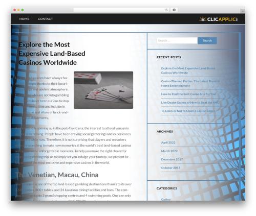 Best WordPress theme Trope - clicapplic.net
