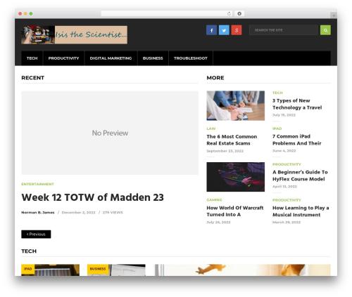 Cool by MyThemeShop WordPress ecommerce theme - isisthescientist.com
