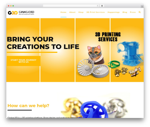Layla WordPress website template - ginkgo3d.com