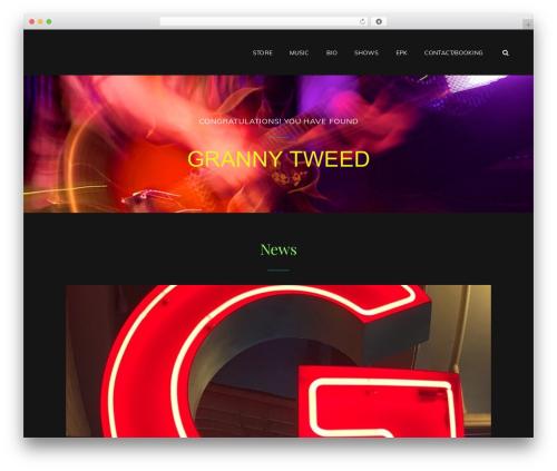 My Music Band top WordPress theme - grannytweed.com