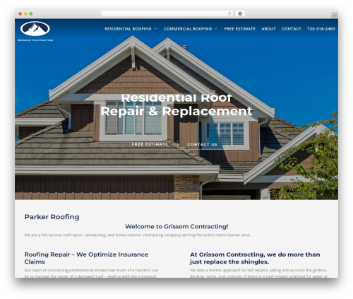 Roofing business WordPress theme - grissomcontracting.com