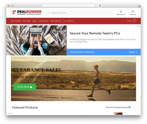Shoptimizer template WordPress - dealrunner.com