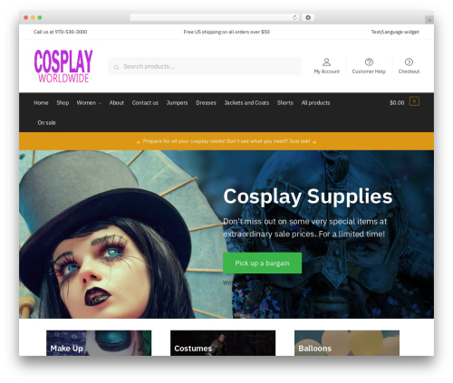 Shoptimizer WordPress theme design - cosplayworldwide.com