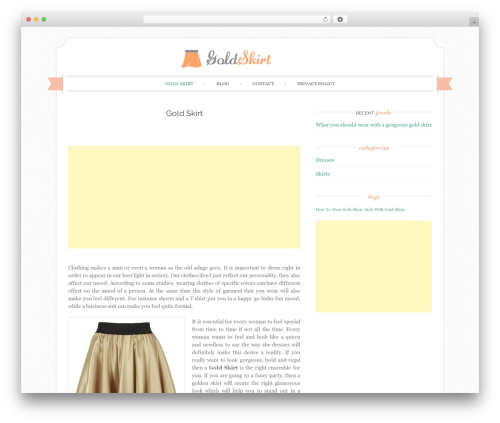 Sugar and Spice WordPress page template - goldskirt.net