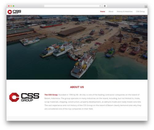 Trade WordPress theme - cssgroup-batam.com