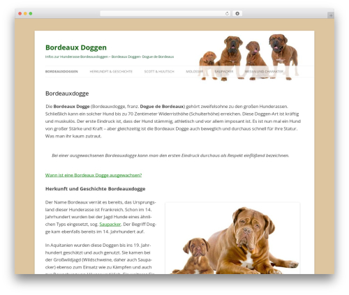 Twenty Twelve WP theme - bordeauxdoggen-online.de