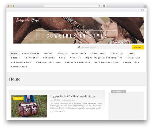 UrbanNews fashion WordPress theme - cowgirlsinstyle.com