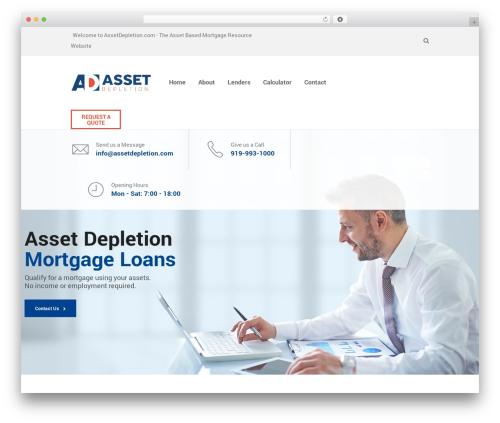 WordPress theme SaturnThemes FinanceBank - assetdepletion.com