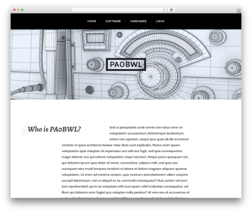 Argent WordPress theme - pa0bwl.com