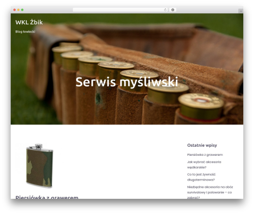 Bizworx WordPress blog template - wkl-zbik.pl