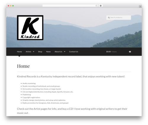 Boutique WordPress gallery theme - kindredrecords.com
