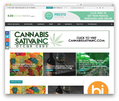 FlowNews WordPress template for business - the420sentinel.com