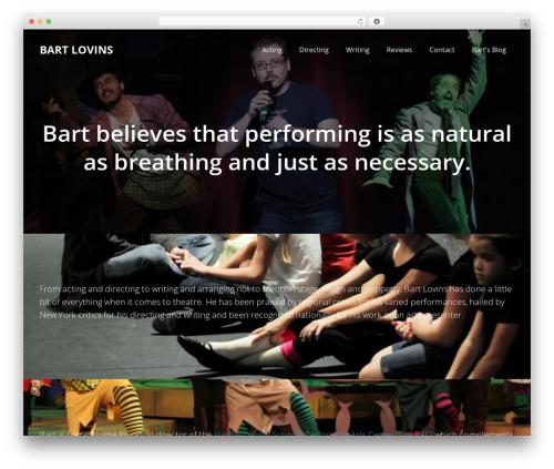 Impreza Child WordPress website template - bartlovins.com