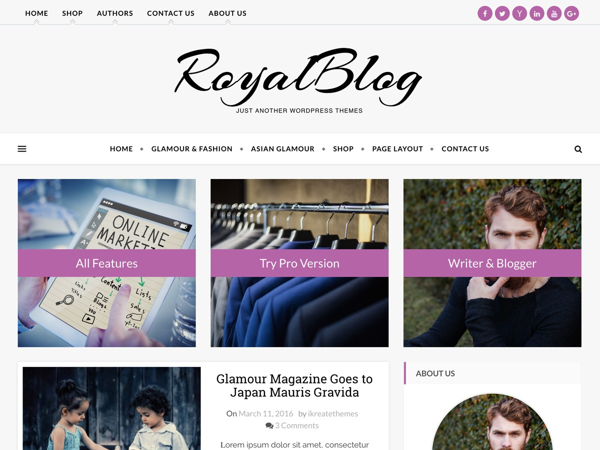 Royal Blog best WooCommerce theme