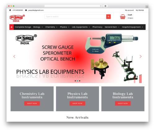 Shopress WordPress template free - psawlaboratoryequipments.com
