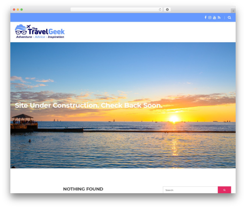 Spencer WordPress template - thetravelgeek.com