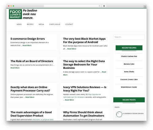 Free WordPress Custom Banners plugin - mauritiusfoodlovers.com