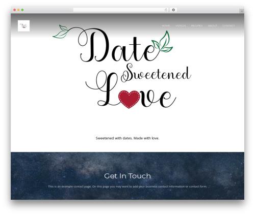 Theme WordPress Organic Purpose - datesweetenedlove.com