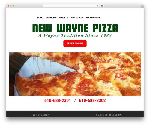 Theme WordPress XClean - newwaynepizza.com