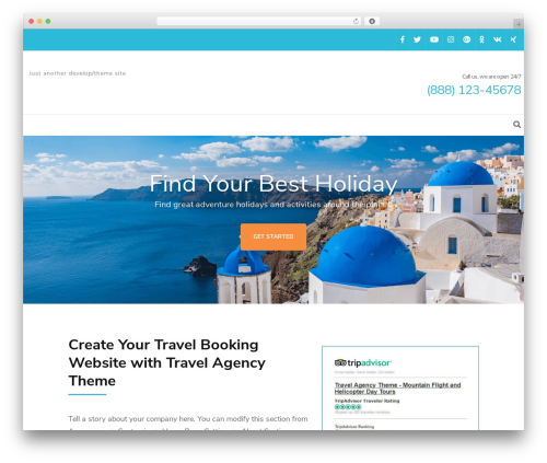 Free WordPress Travel Agency Companion plugin - lovecyclades.com