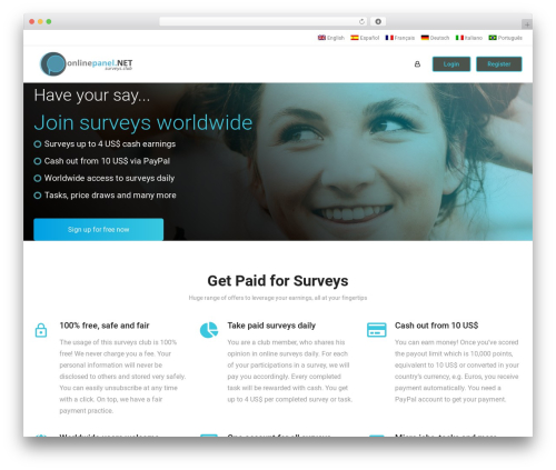 WordPress theme aardvark - onlinepanel.net