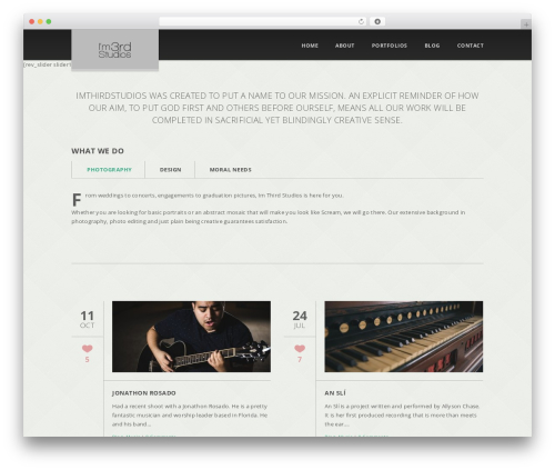 WordPress theme Glisseo - Responsive Multipurpose WordPress Theme - imthirdstudios.com