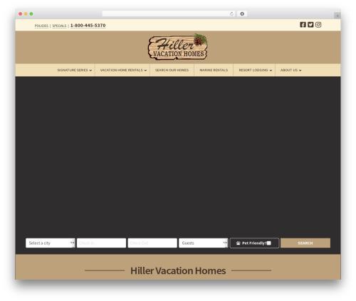 WordPress theme Pro - hillervacationhomes.com