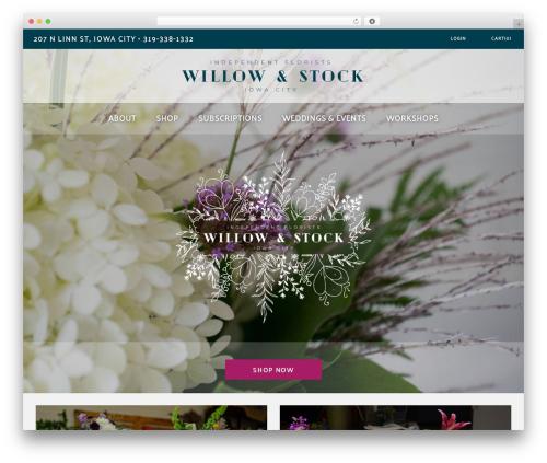 Artday WordPress theme design - willowandstock.com
