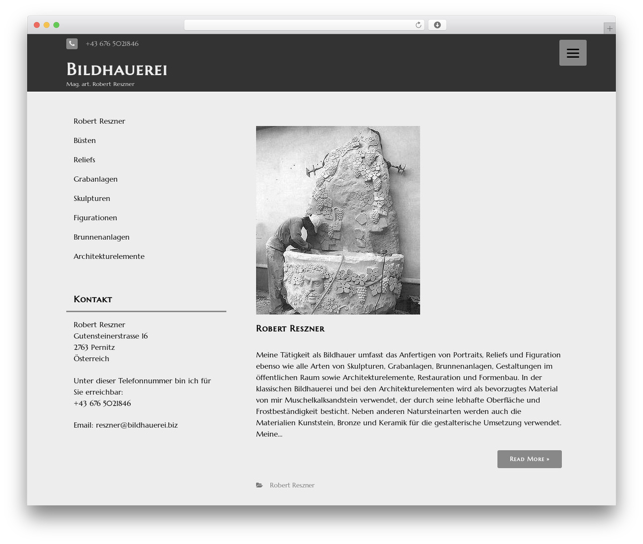 Best WordPress theme THBusiness Pro - bildhauerei.biz