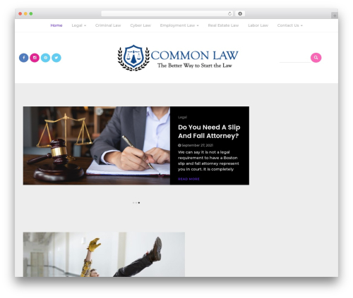Bootstrap Blog WordPress blog template - commonlawblog.com